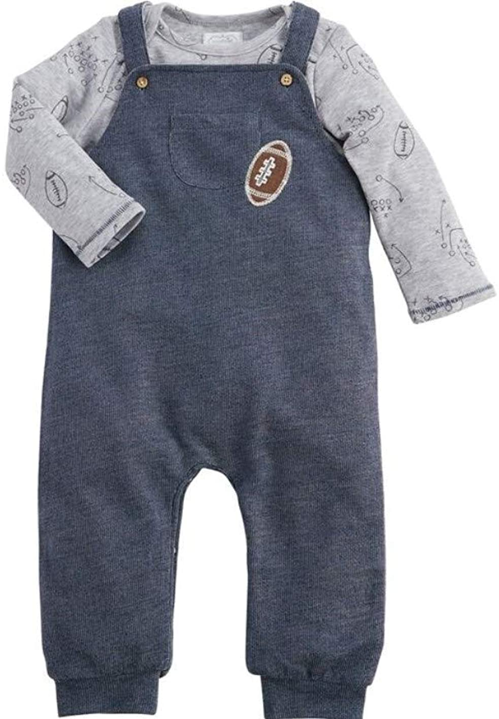 Mud Pie All boy Overall and Shirt Set 9-12 Month