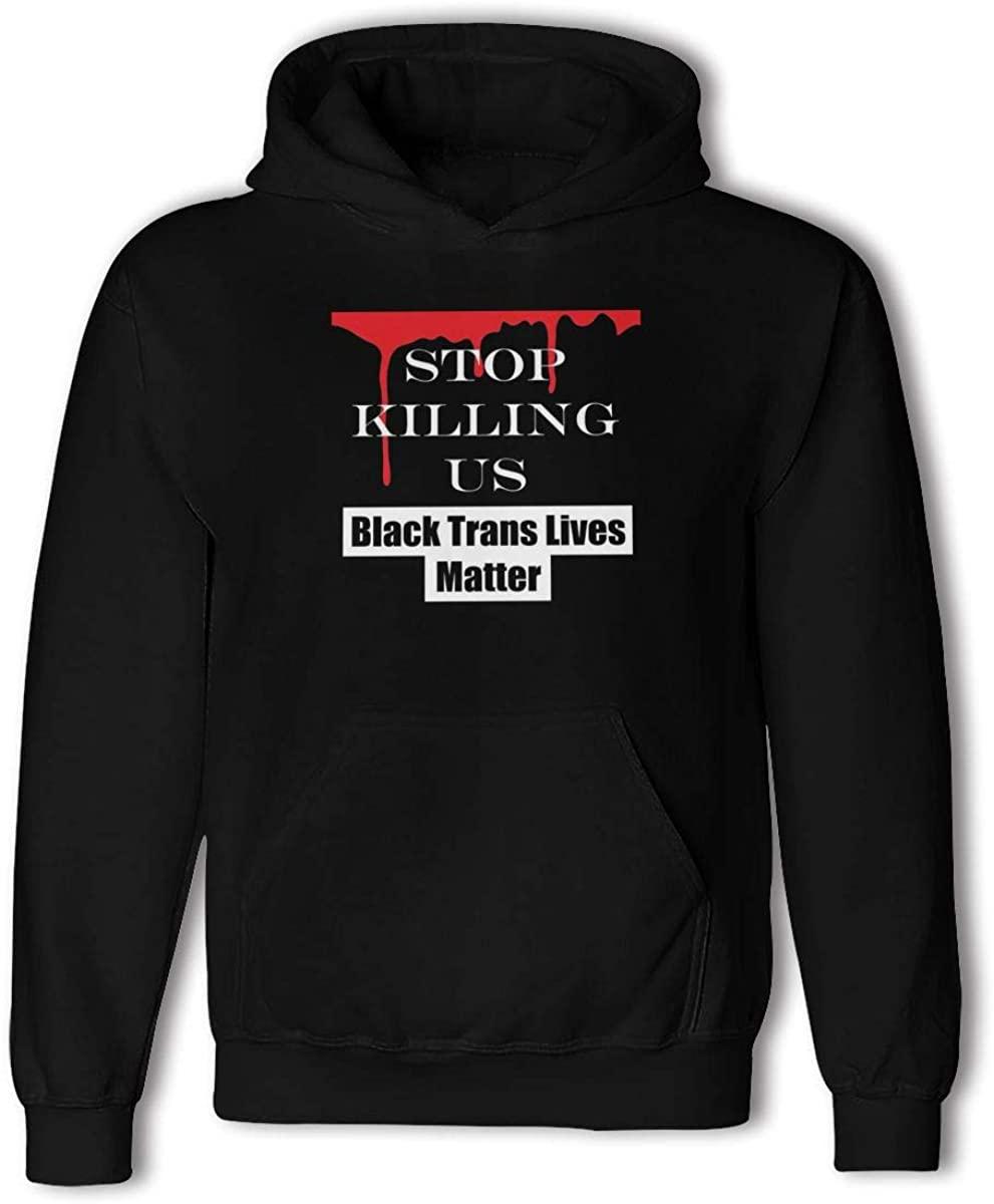 NYF Stop-Killing-Black Sweatshirt Pullover Sweatshirt Print Hoodie for Man Women