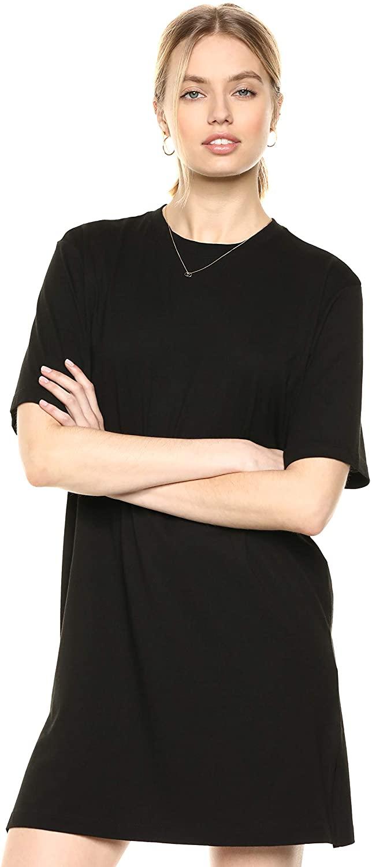 The Drop Women's Federica Short-Sleeve Crew Neck Mini T-Shirt Dress