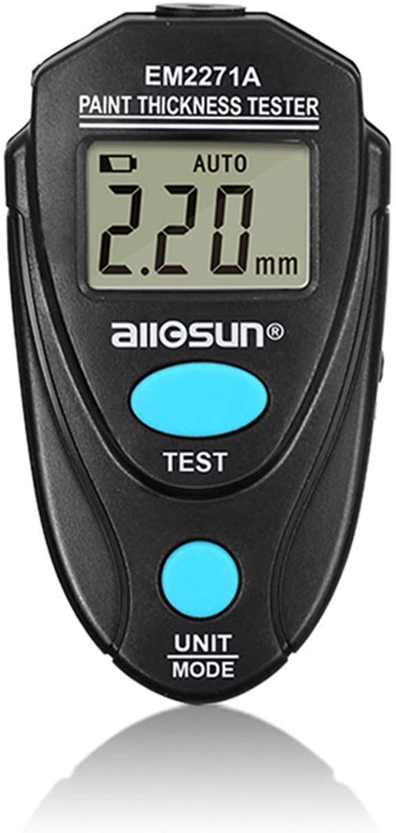 Luckya EM2271A Digital Thickness Gauge Coating Meter Fe/NFe 0.00-2.20mm for Car Thickness Meter