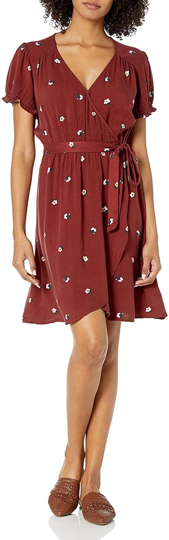 DHgate Brand - Goodthreads Womens Fluid Twill Faux Wrap Dress