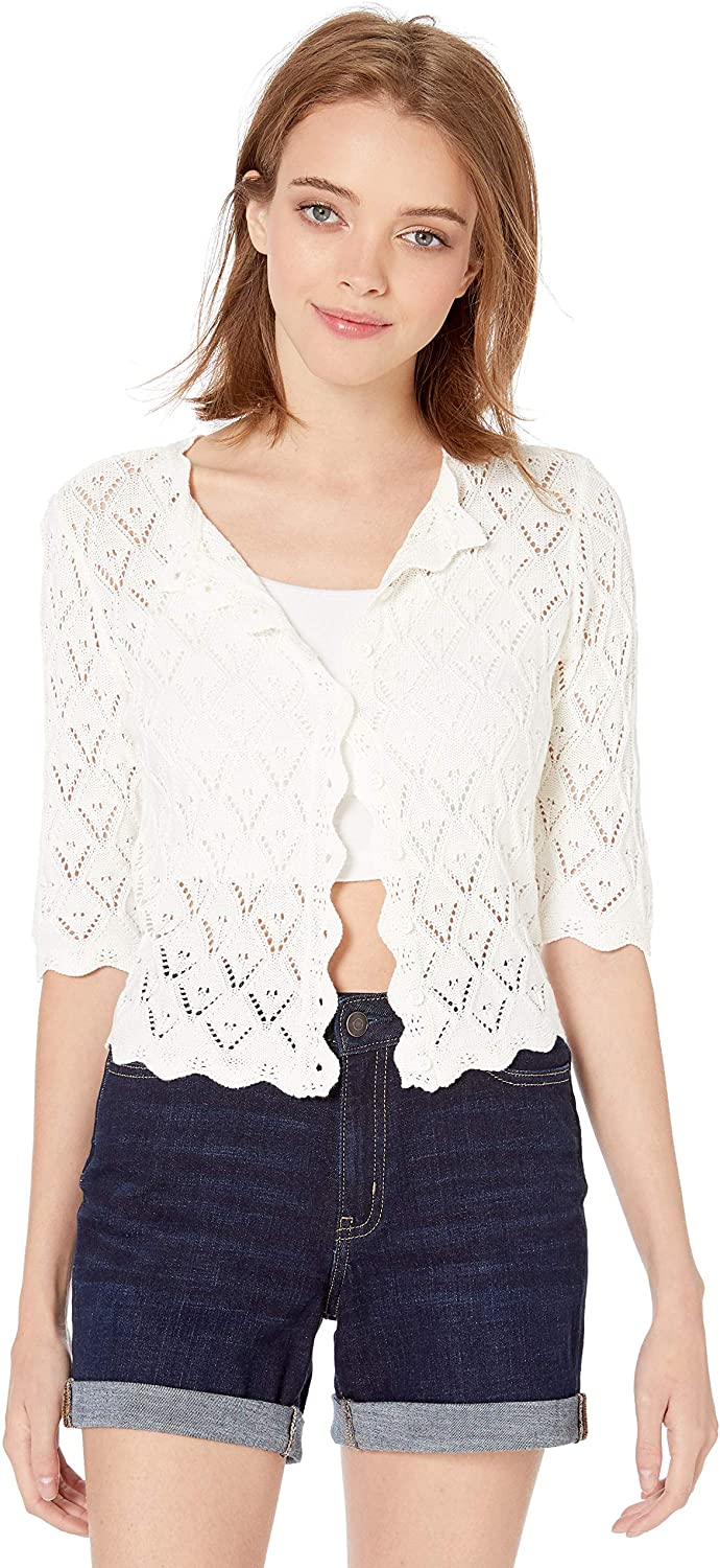 BB Dakota Women's Summer in The City Drop Needle Sweater Cardigan