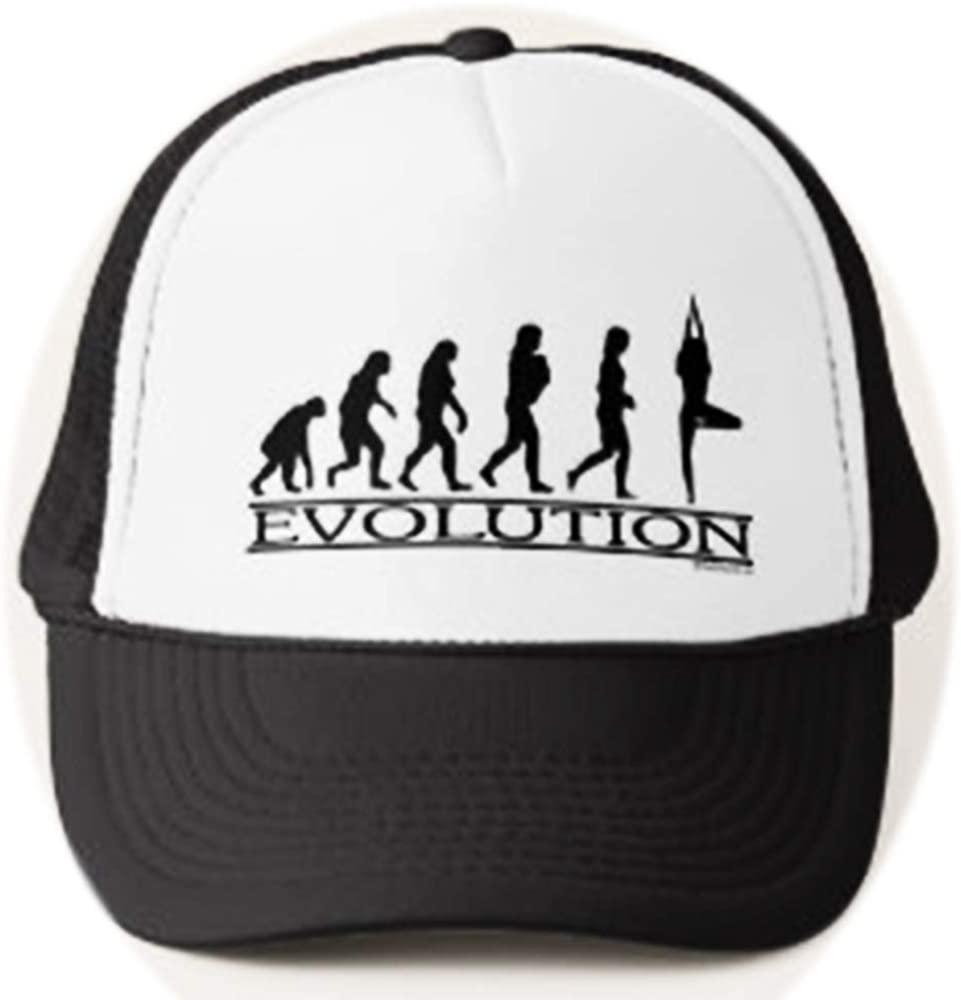 U-A-N Funny Evolution Yoga Trucker hat(002) Evolution Adjustable Mesh Trucker Hat Baseball Cap