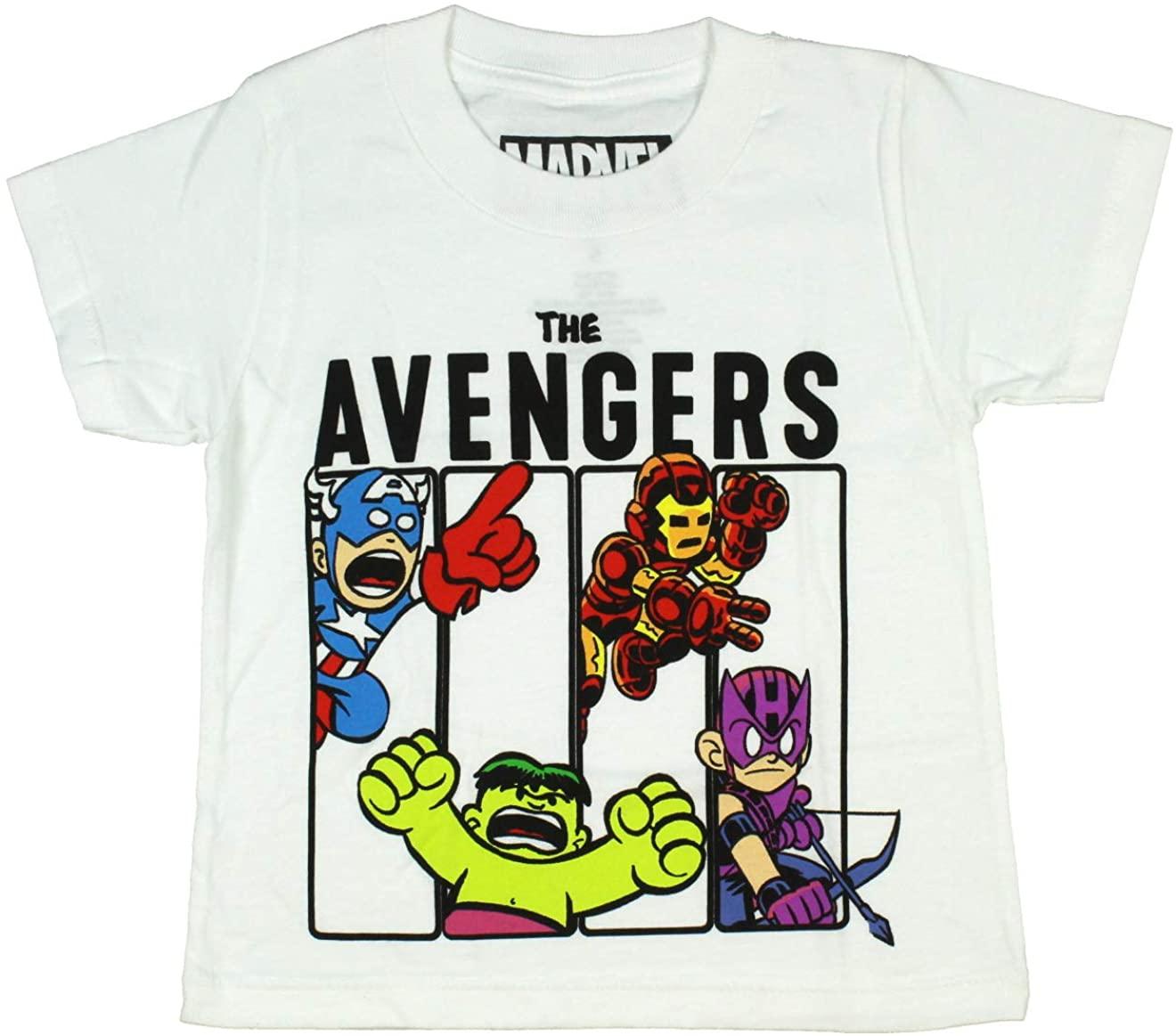 Captain America Iron Man Hulk Hawkeye Toddler Boy's Baby Heroes T-Shirt