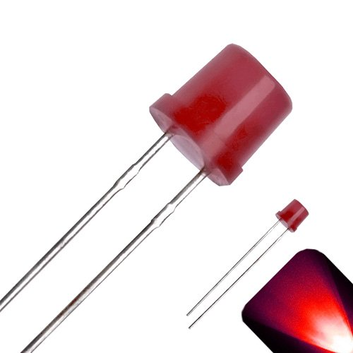 5mm Diffused Flat Top Wide Angle Red LED - Wide Angle (Pack of 20)