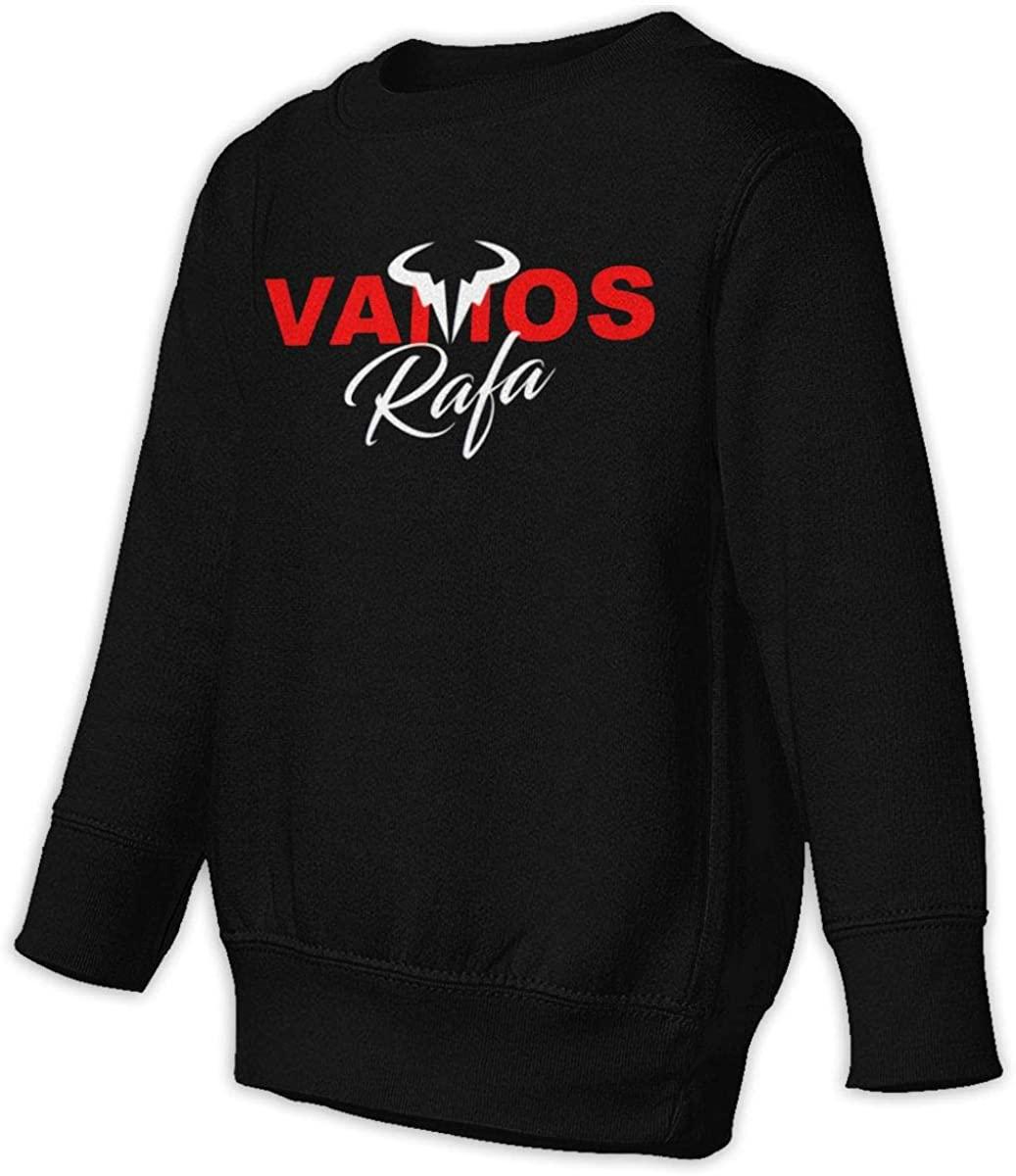 LSHLKJDFN Vamos Rafa Rafael Nadal Tennis Star Favorite Player Unisex Sweatshirt Youth Boy and Girls Pullover Sweatshirt Black