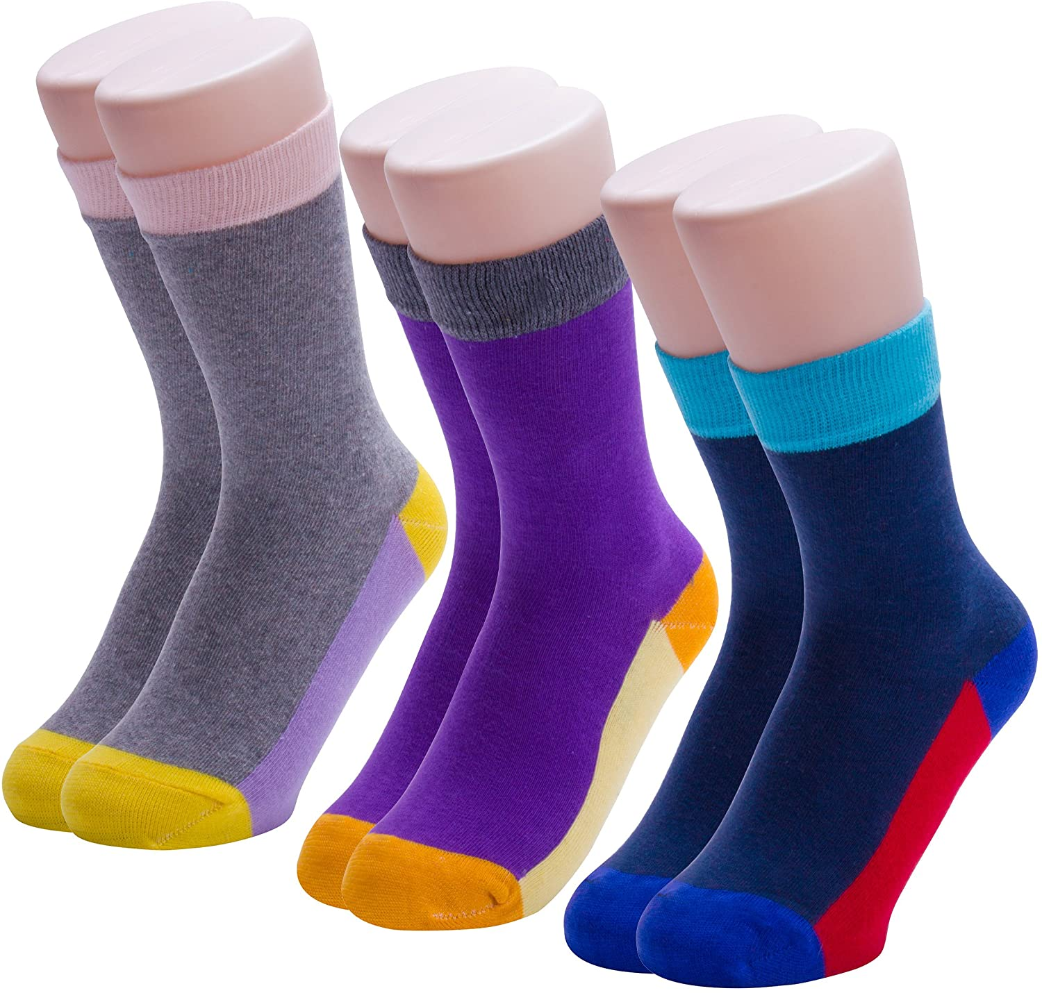 AdoBella Women Dress Crew Socks Mid Calf Length Casual Formal Cotton