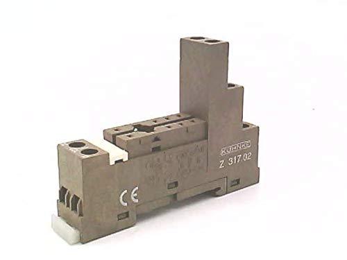 KUHNKE AUTOMATION Z317.02 10AMP, 1NC/1NO, 8 PIN, 250VAC, Relay Socket