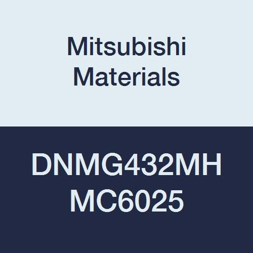 Mitsubishi Materials DNMG432MH MC6025 Coated Carbide DN Type Negative Turning Insert with Hole, Unstable Cutting, Rhombic 55°, 0.5