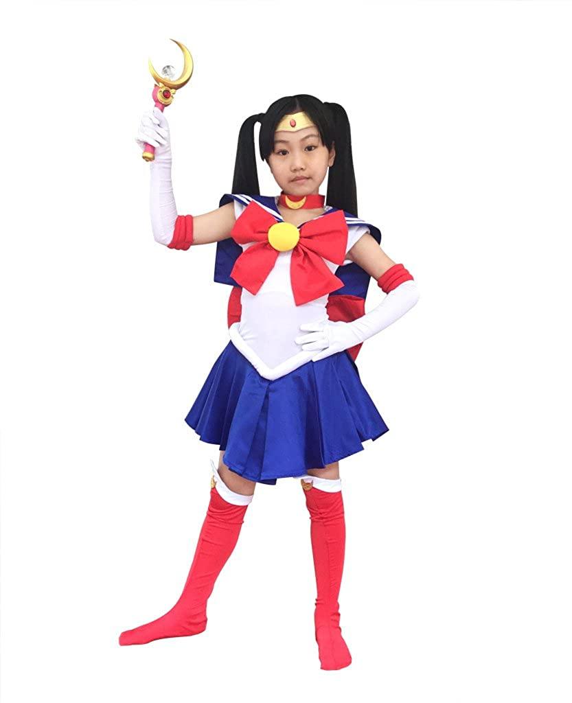 DAZCOS Kids Size Bunny Tsukino Usagi Cosplay Costume