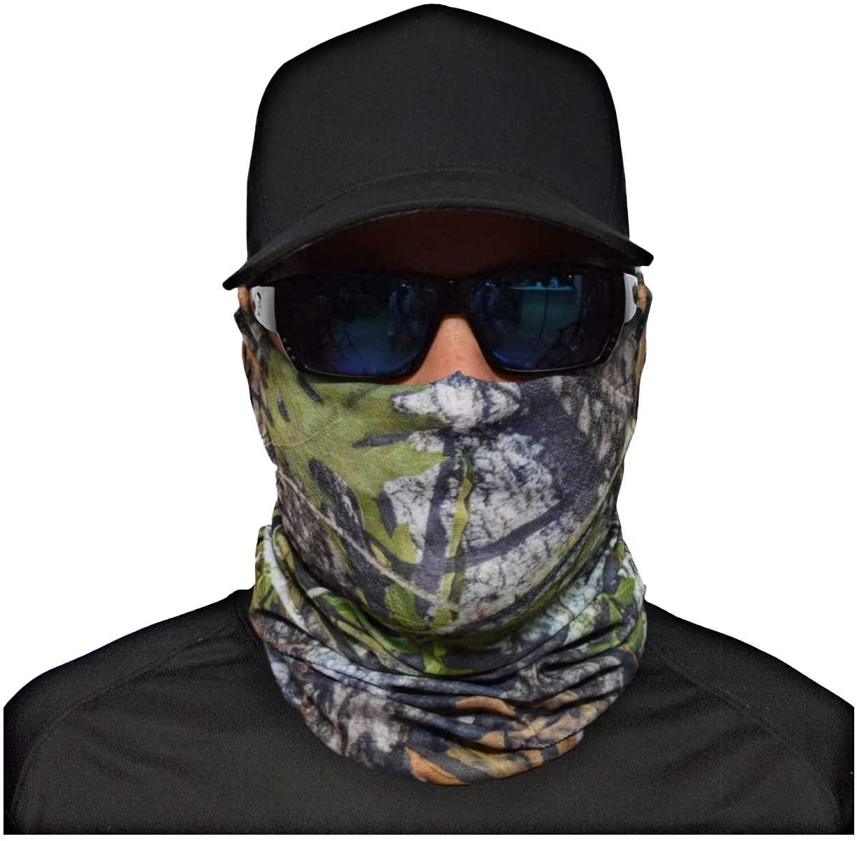JOHN BOY Hunting Face Guard - UPF 50+ Camoflauge Sport Mask with UV Sun Protection & Moisture Wicking Fabric - TREE