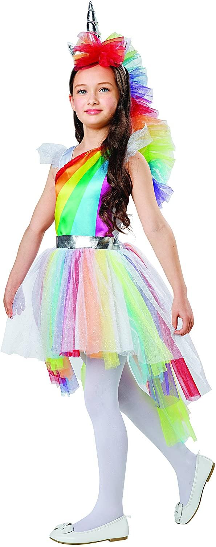 Seasons Rainbow Unicorn Dress Up Costume, Medium (8-10)