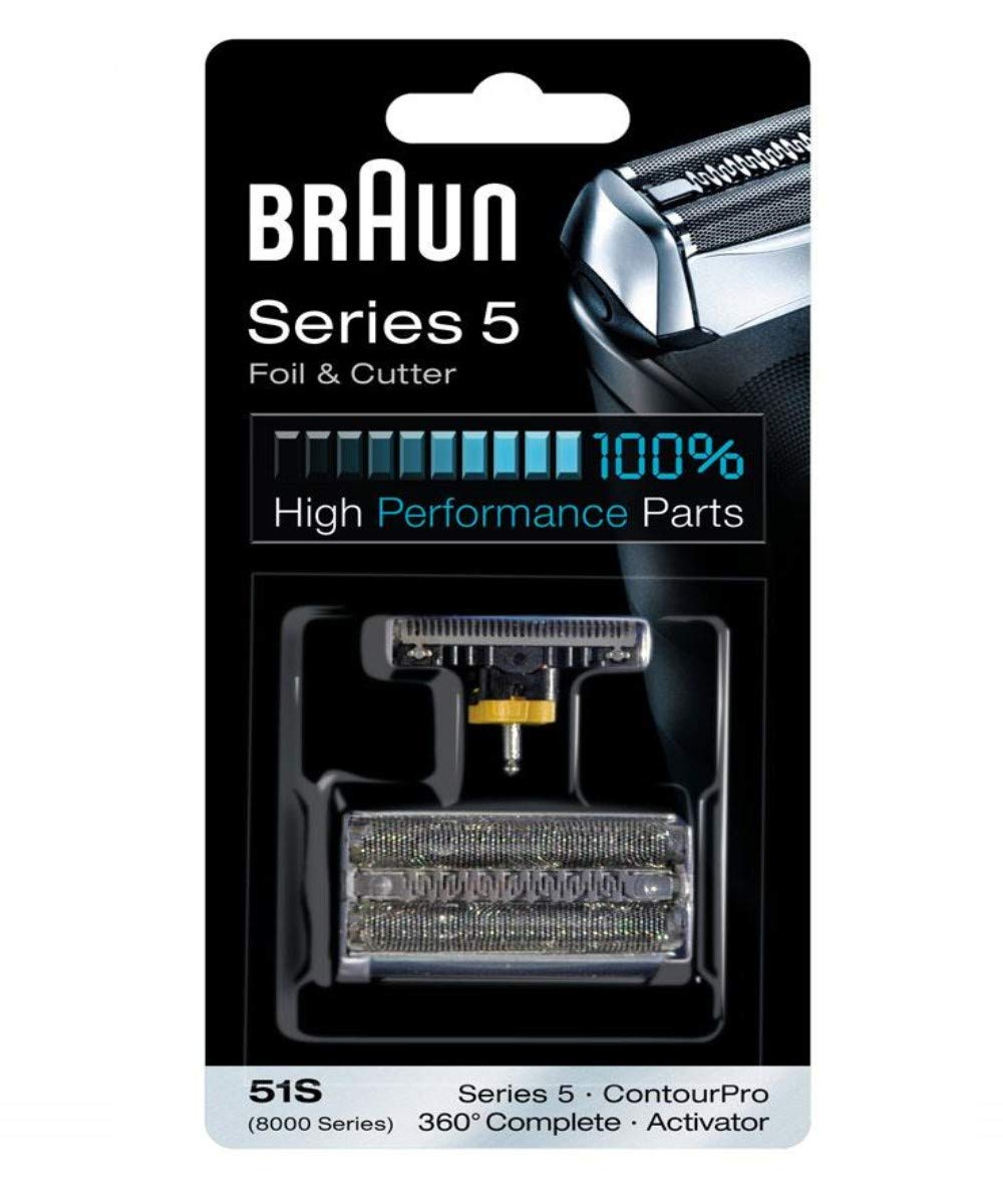 Braun 51S razor Replacement Foil & Cutter Cassette 51S-8000CP 8998 8595 8590 5643 5644 5645 5647 shaving heads by Braun