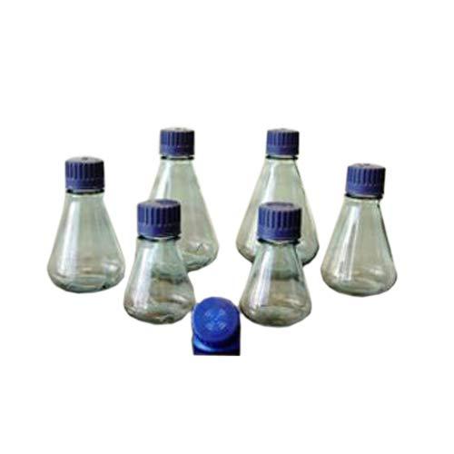 Dynalon 1213K96PK 641934-0500F Polycarbonate Sterile Flat Bottom Erlenmeyer Flask, 500 ml (Pack of 12)