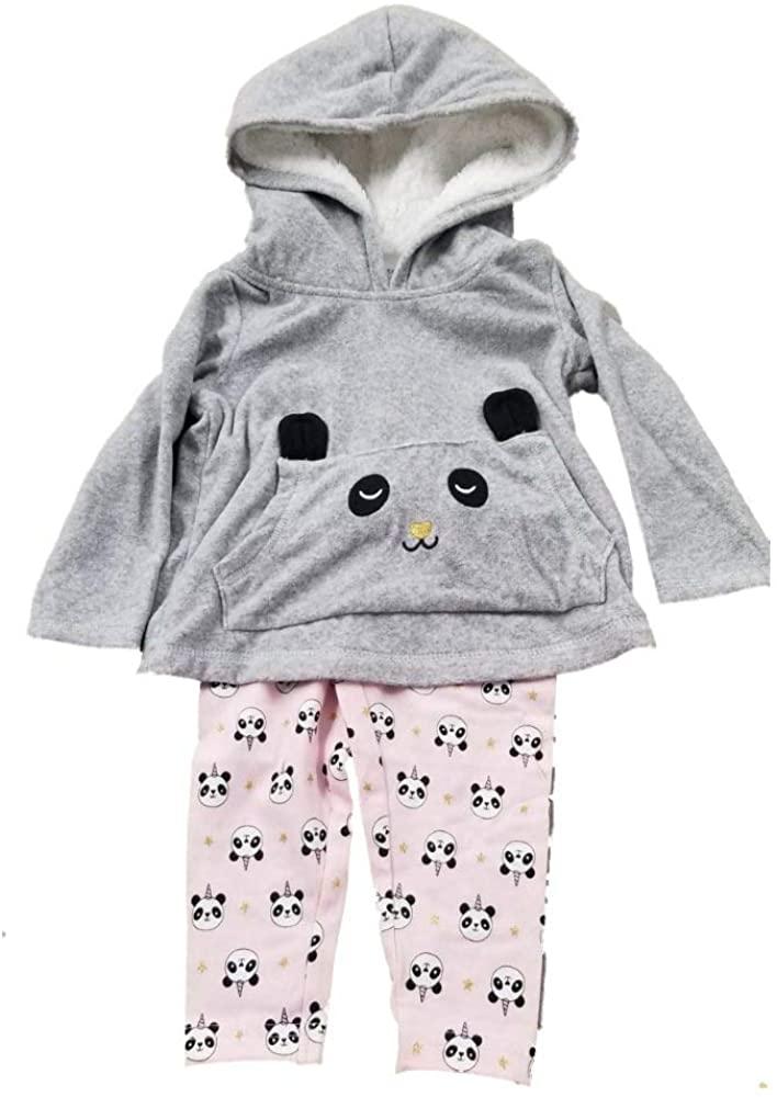 Carter's 2pc Pink/Gray Panda Pant Set