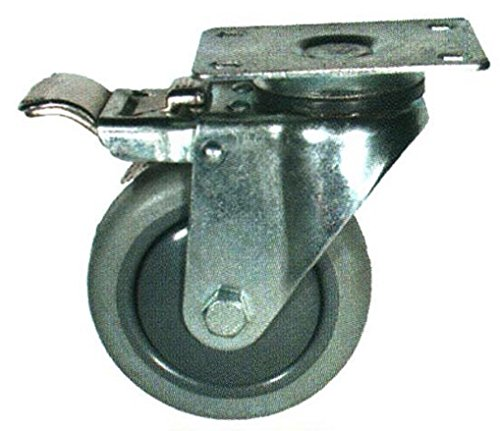 The Fairbanks Company TL-03-4-TPR - TL03 Series Total Lock Casters, Ball Bearing, Swivel, Thermoplastic Rubber, 250 lb. Load Capacity, 4
