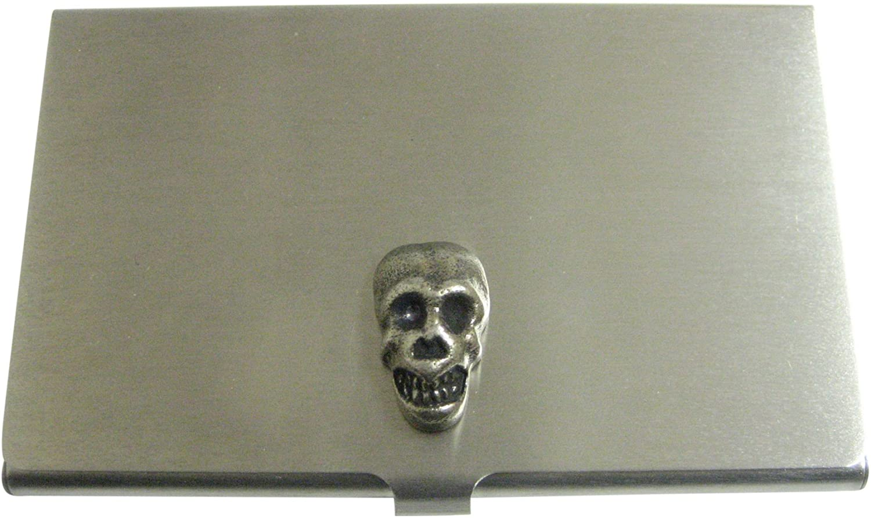 Rounded Skull Pendant Business Card Holder