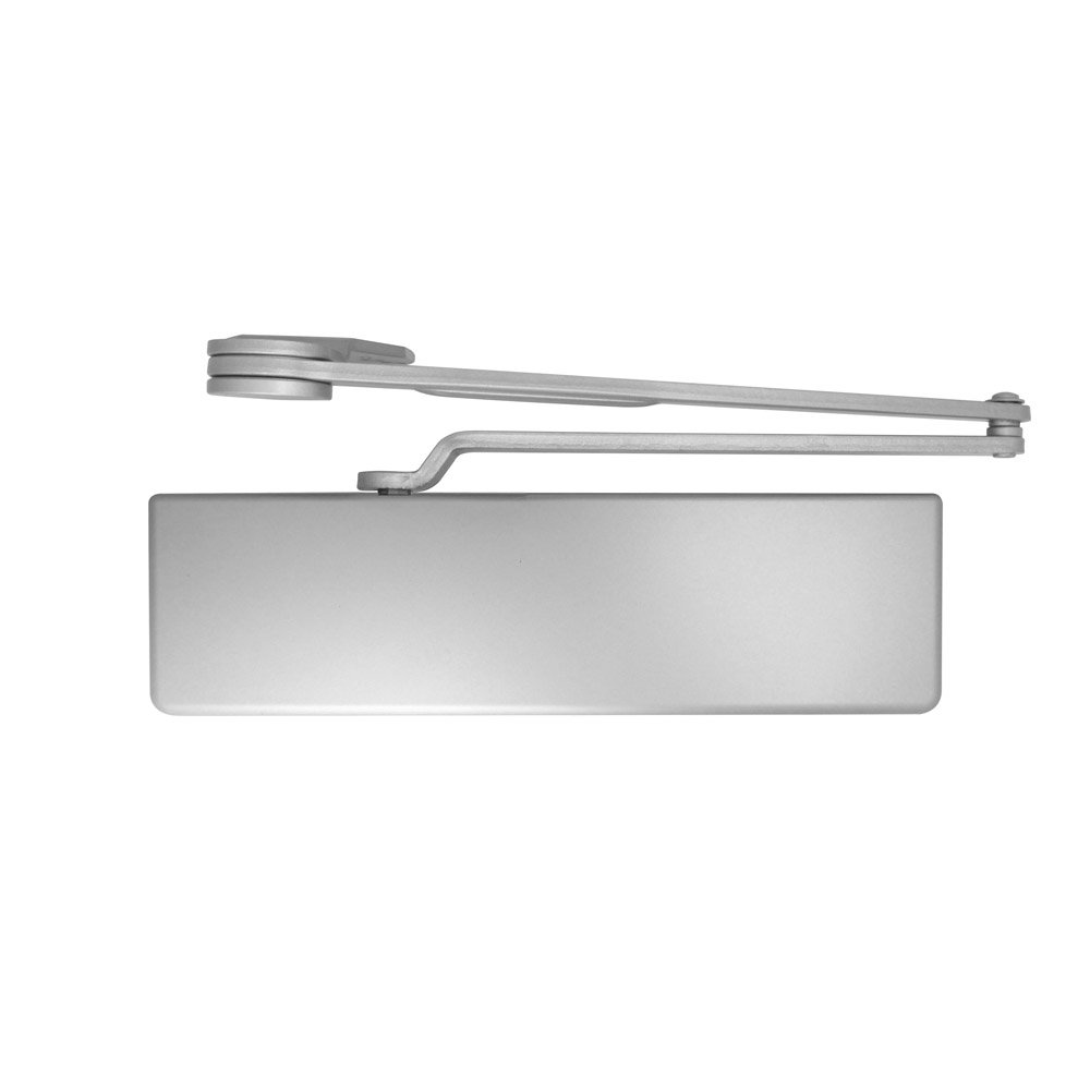 Dexter Commercial Hardware DCH1000-STD-FULL-DS-ALUM, Heavy Duty Dead Stop arm Surface Door Closers with Full Cover, 689/ALUM, Aluminum