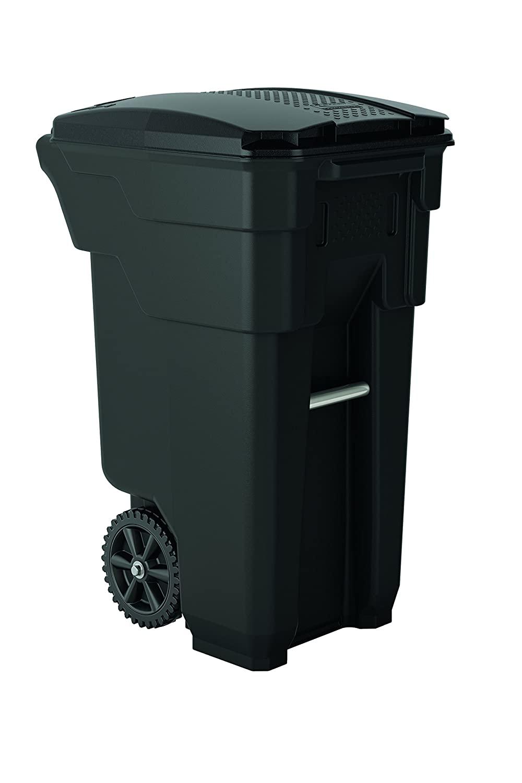 Suncast Commercial BMTCW32 Wheeled Trash Can, 36.5