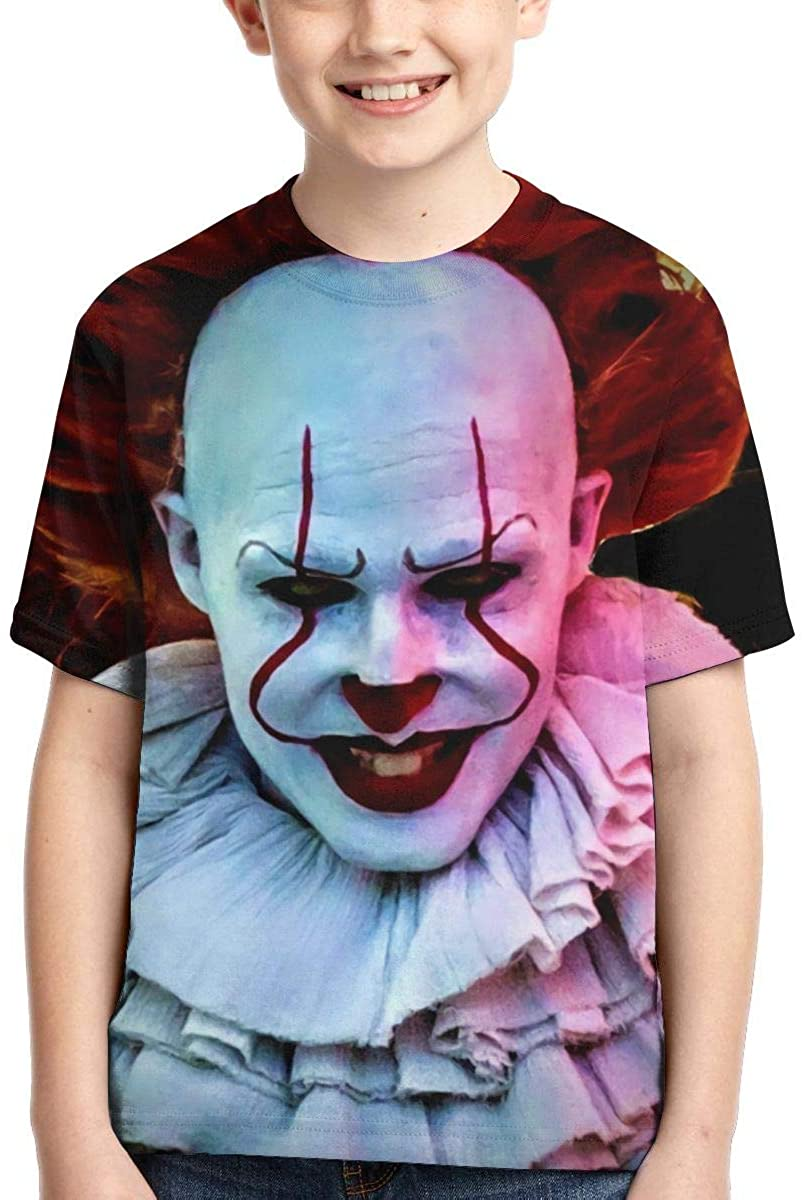 Pennywise Graphic Boy Shirts Casual Short Sleeve T Shirt for Kids Black