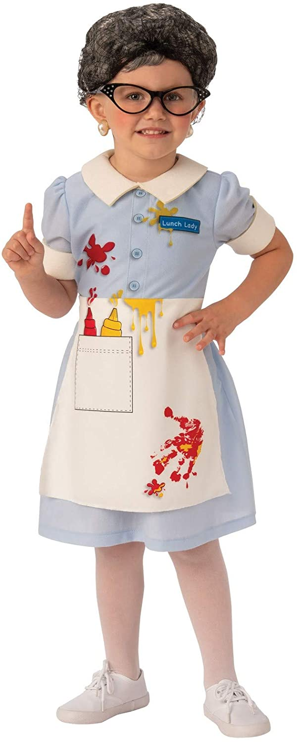 Rubies Costume Lunch Lady Girls Child Funny Costume