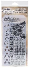 Tim Holtz Stamper's Anonymous Collection Stamp & Stencil - Mixed Media 6