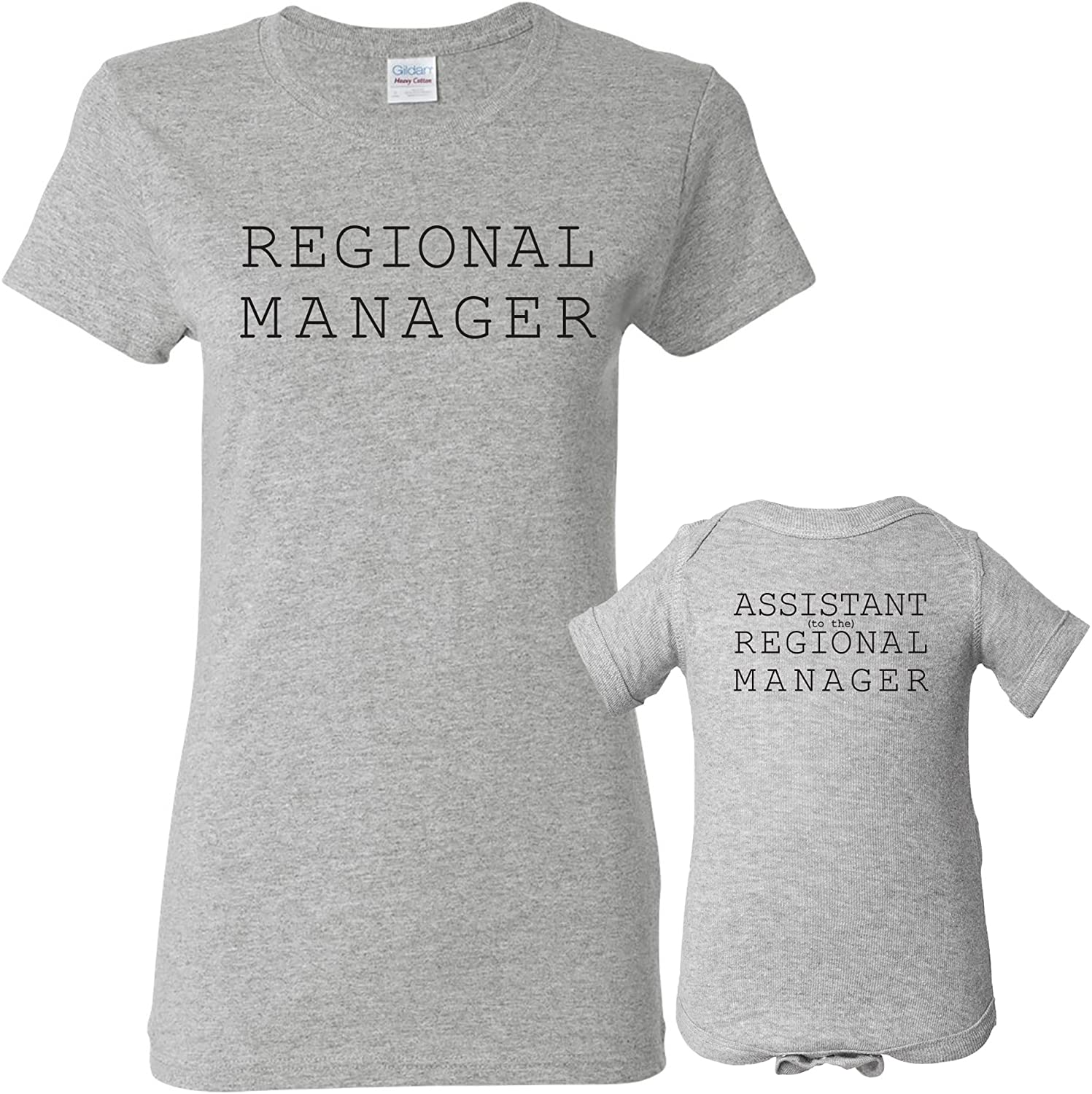 UGP Campus Apparel Regional Manager - Funny Joke Womens T Shirt & Infant Creeper Bundle