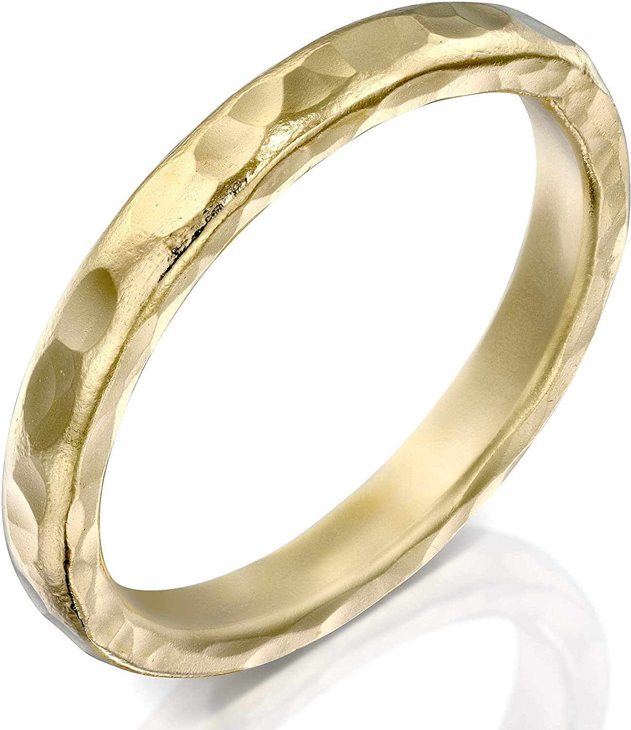 FABIN JEWELRY Handmade Gold Filled Hammered Ring, Textured Statement Band