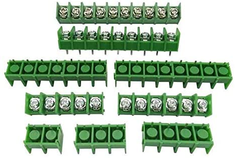 Davitu Terminals - 5pcs KF8500 8.5mm KF7620 7.62MM pitch connector pcb screw terminal block connector 2 pin / 3 pin / 4Pin Green Black 10A 300V - (Color: KF8500 black, Pins: 5P)