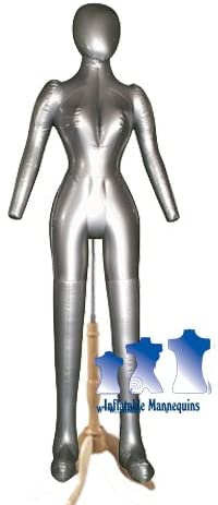 Inflatable Female, Full-Size with head & arms, with MS7N, Silver