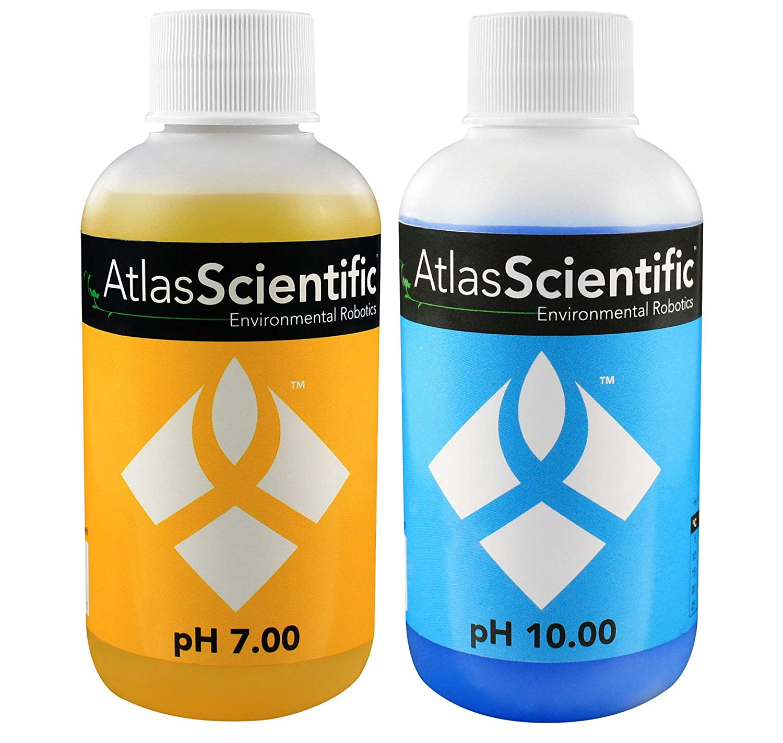 Atlas Scientific pH 7.00 & 10.00 Calibration Solution 125ml - 4oz (Pack of 2)