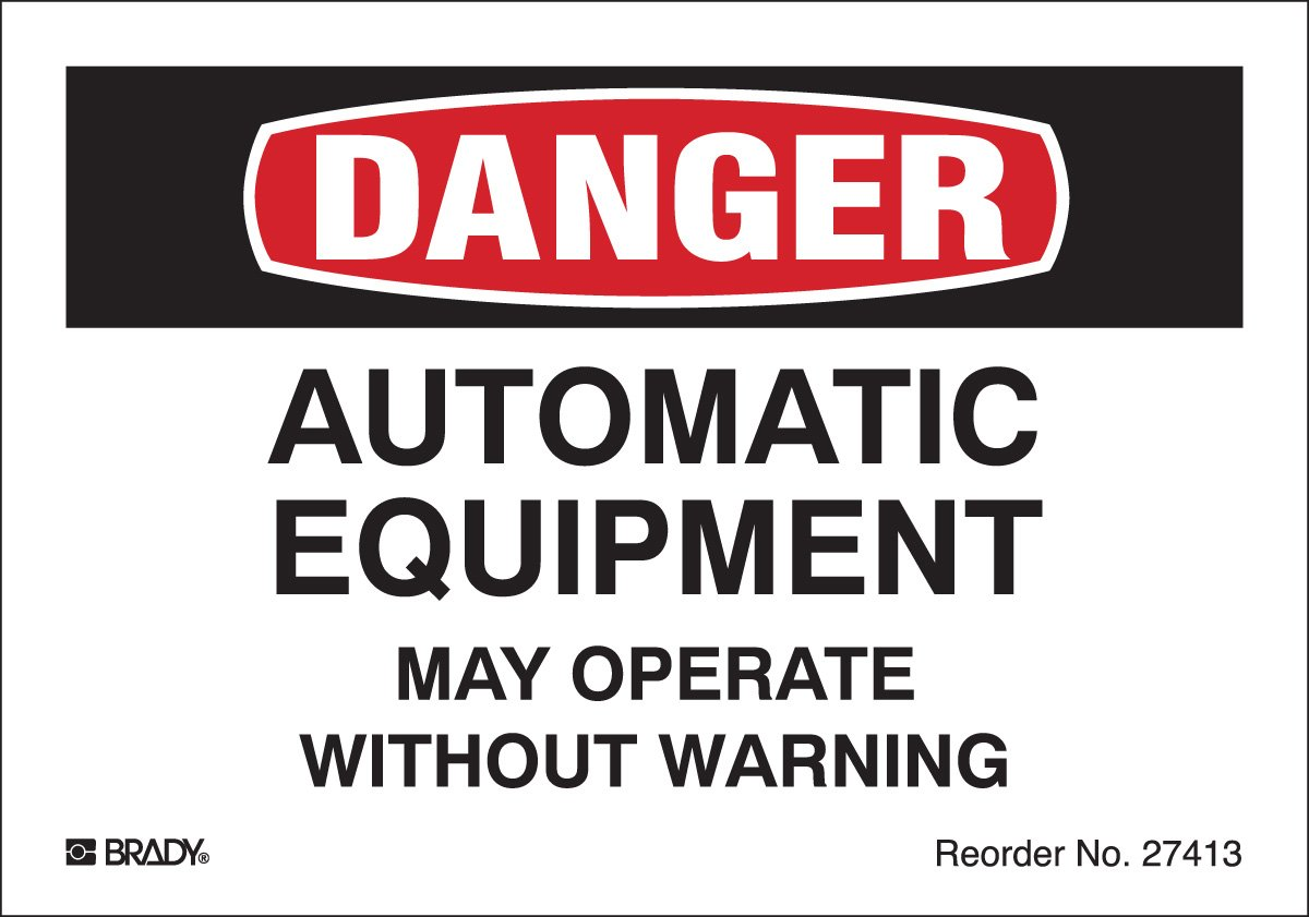 Machine and Equipment Labels, Engineering Grade Reflective Sheeting, Black/Red On White