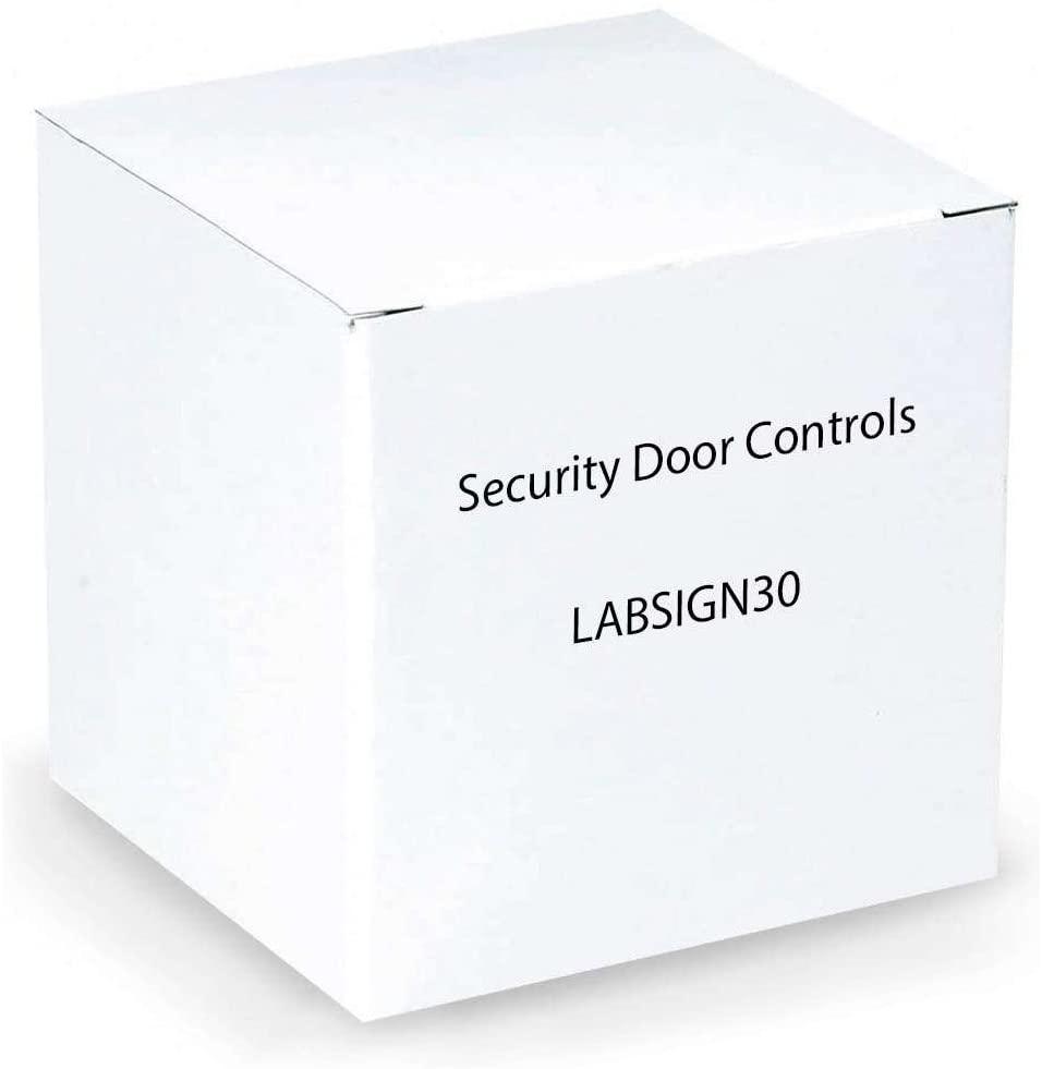 Sdc - Security Door Controls STICKER, 30 SECOND DELAY - A3W_SZ-LABSIGN30