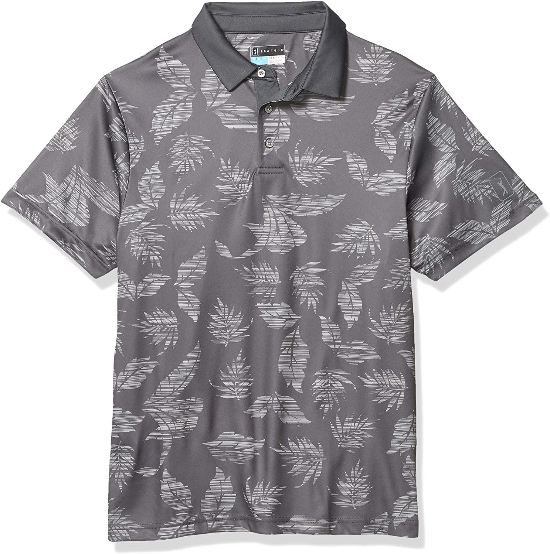 PGA TOUR Men's Short Sleeve Printed Polo Shirt