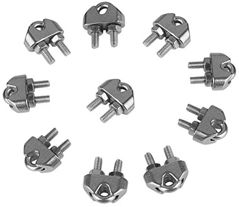Ochoos 10pcs M3 304 Stainless Steel Saddle Clamps Cable Wire Rope Clips