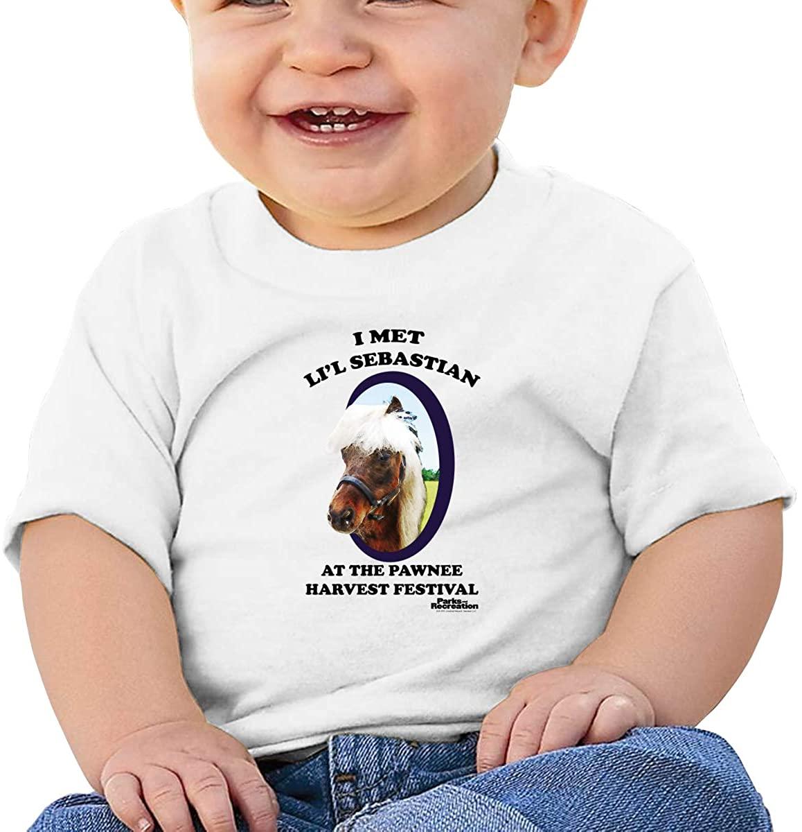 Andea Parks & Recreation Li'L Sebastian Soft and Comfortable Cotton Baby Short-Sleeved T-Shirt