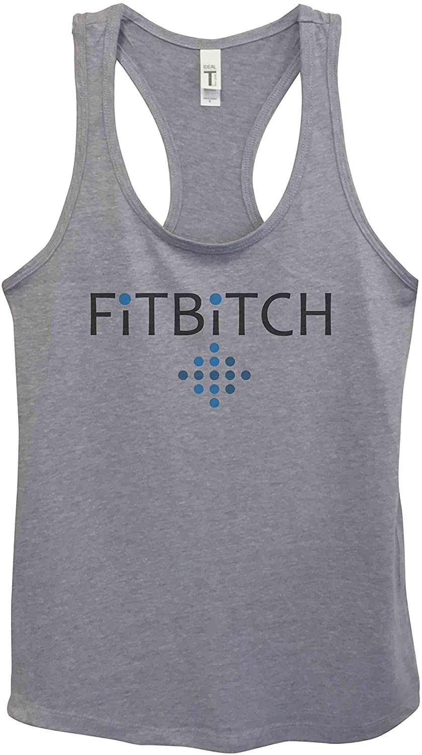 Funny Saying Womens Workout Tanks Fitbitch Royaltee Gym Shirts Collection Large, Grey