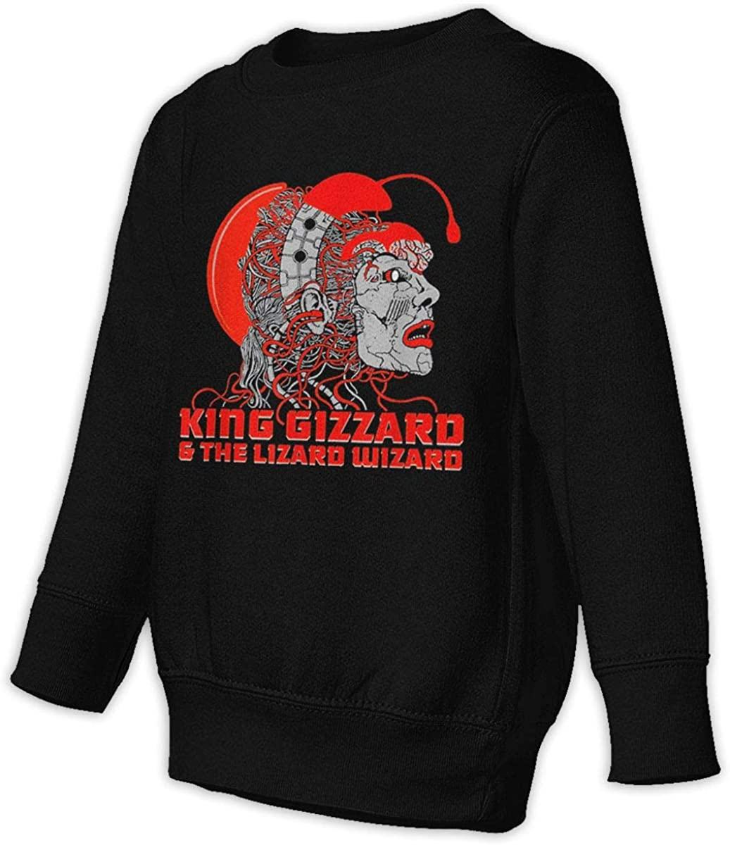 King Gizzard and Lizard Wizard Juvenile and Toddler Sweatshirt Handsome Fashion