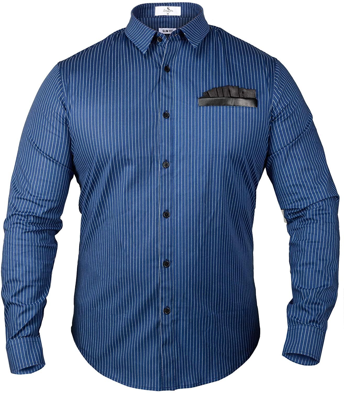 Speedy Collins Premium Dress Shirt w/Pocket Square