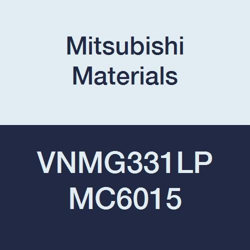 Mitsubishi Materials VNMG331LP MC6015 Carbide VN Type Negative Turning Insert with Hole, General Cutting, Coated, Rhombic 35°, 0.375