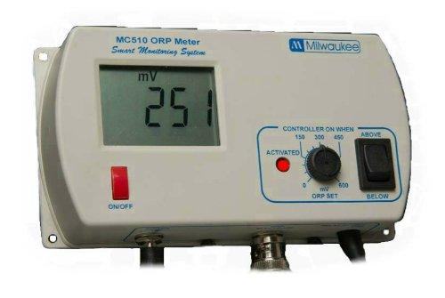 Milwaukee MC510 ORP Controller with Mounting Kit, +/- 1000 mV, +/-5 mV Accuracy