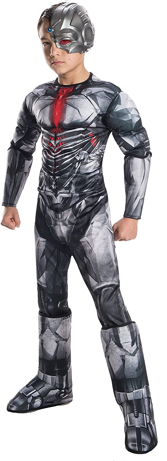 Rubies Justice League Deluxe Cyborg Costume, Small, Multicolor.