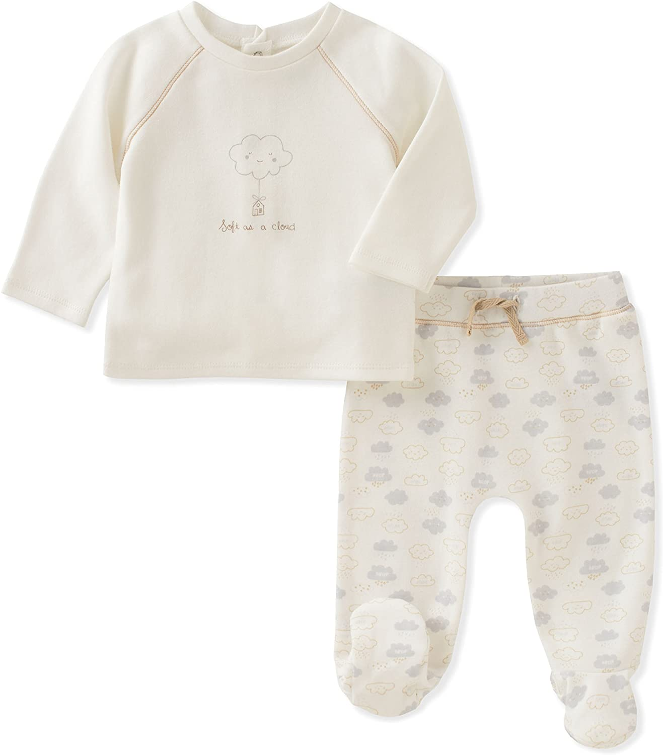 absorba Baby Footed Pant Set-Unisex