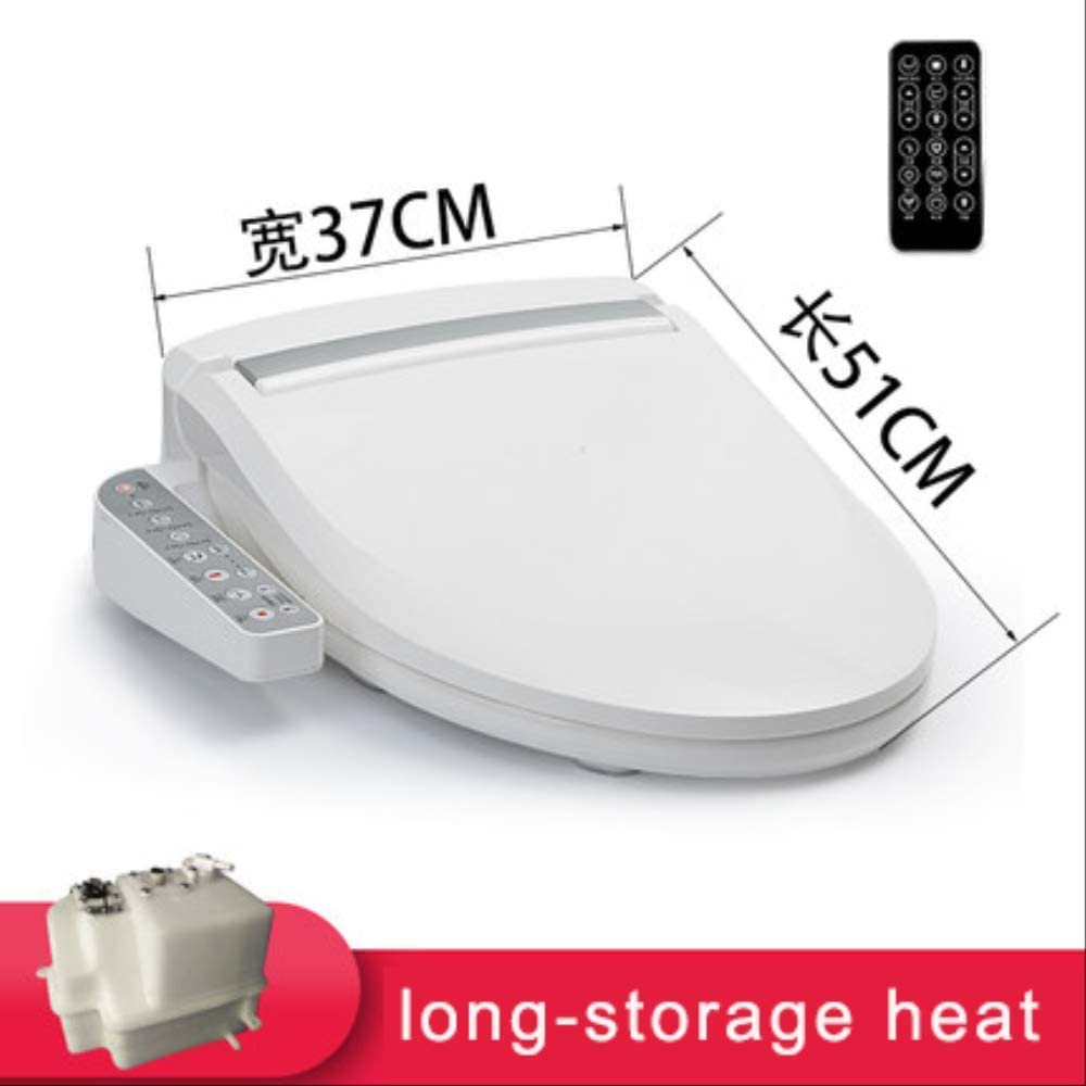 Remote Control Electric Bidet Cover Smart Heated Toilet Seat Cover Female Washing Night Light Wc Smart Toilet Seat Lid A1-long storage
