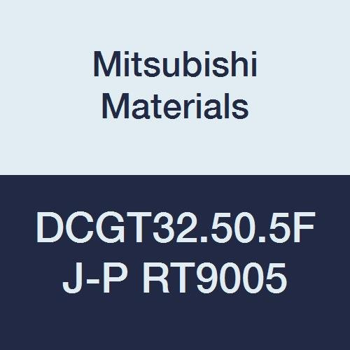 Mitsubishi Materials DCGT32.50.5FJ-P RT9005 Cemented Uncoated Carbide DC Type Positive Turning Insert with Hole, Rhombic 55°, 0.375