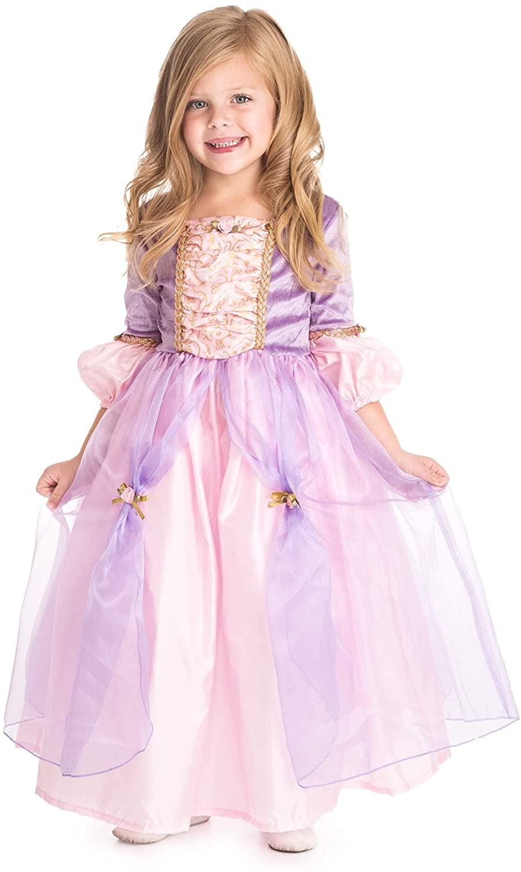 Little Adventures Deluxe Rapunzel Princess Dress Up Costume (Small Age 1-3)