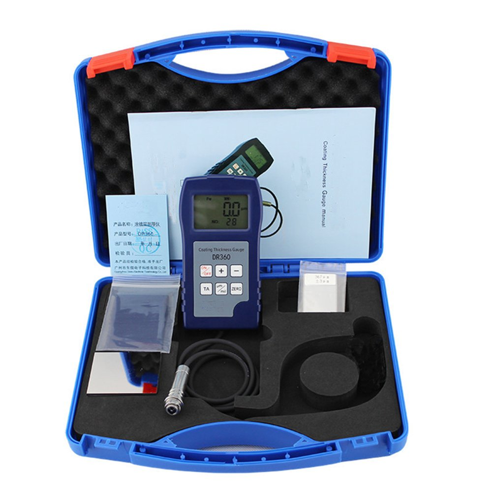 VTSYIQI DR360 Digital Coating Thickness Tester with Electromagnetic Induction Measuring Principle Coating Thickness Measurement of Range 0 to 1250μm