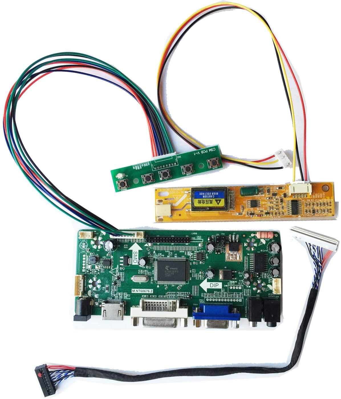 HDMI DVI VGA LCD Controller Board Monitor Kit for Turn LP141WX1(TL)(E1) 1280X800 into a Monitor