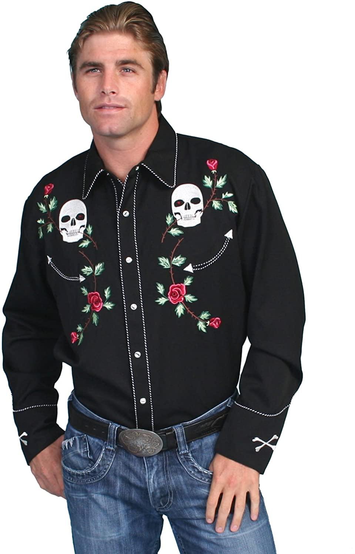 Scully Skull Roses Shirt