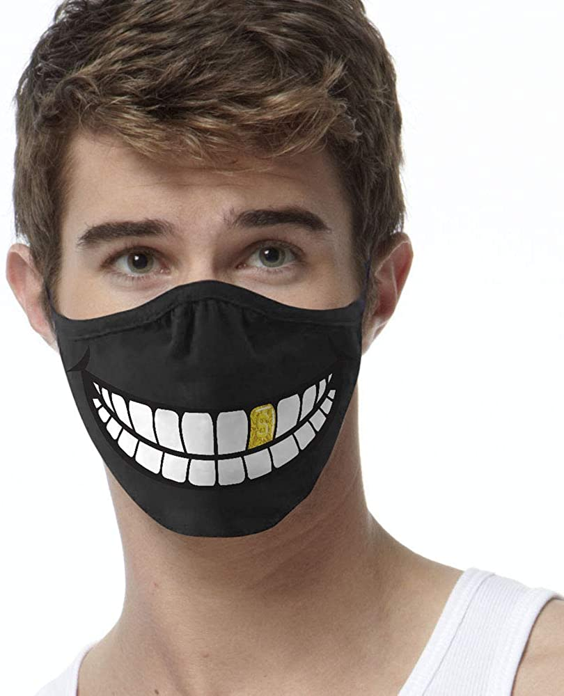 Gold Tooth face mask, two ply printed face covering